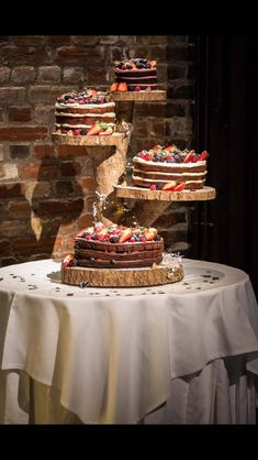 Wooden Wedding Cake Stands | Mary Bohemian Wedding ideas | Pinterest | Wedding cake stands, Tree ...