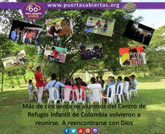 Más de 50 ex alumnos del Centro Infantil de Colombia se reunieron en 4 días de juegos y muchos recuerdos luego de años de vivir juntos como una familia en medio de la persecución. Pedro y John nos cuentan su emotiva experiencia. https://www.puertasabiertas.org/noticias/colombia20151117