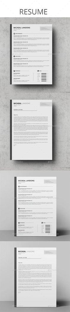 Resume — Photoshop PSD #resume creative #elegant • Available here → https://graphicriver.net/item/resume/17805052?ref=pxcr