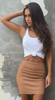 Sunday hangs in the Capri Skirt, shop now in Boutiques & Online xx - Outfit Trends Chic Summer Outfits, Classy Outfits, Sexy Outfits, Cute Outfits, Fashion Outfits, Fashion Fashion, Style Casual, Skirt Outfits, Mini Skirts