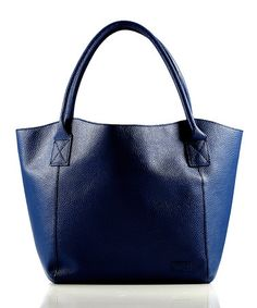 Another great find on #zulily! Navy Pebbled Switch Tote by LouenHide #zulilyfinds