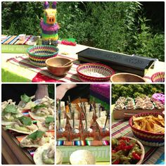 Mexican inspired canapé food stall