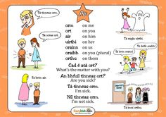 "Poster for the preposition ""ar"". Gaelic Words, Irish Language, Classroom Organisation, Primary Education, Luck Of The Irish, Irish Dance, 5th Class, Languages, Grammar"
