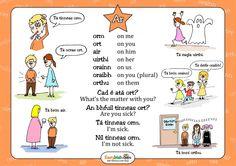 "Poster for the preposition ""ar"". Gaeilge"
