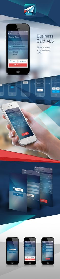 Business Card App by Marko Aleksic, via Behance   Make some easy money with this FREE web app --> http://bitcoinfaucetbonanza.com/     <-- Get Rich!