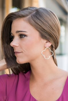 """""""Perfect Figure Earrings, Silver""""These earrings have such an elegant shape! We love their versatility too! You can just as easily pair these with a casual tank and shorts as you can a dress for date night! #newarrivals #shopthemint"""