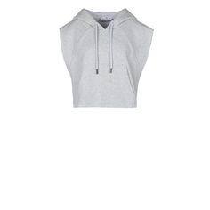 Pearl Gray Yoga Crop Hoodie - Adidas By Stella Mccartney Official Online Store - SS 2016