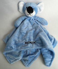 Blue Koala Bear Honey Bunny Lovey Security Blanket Plush Toy XOXOX #HoneyBunny