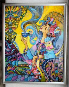 Часы ручной работы. Витражная роспись и др. Painting On Glass Windows, Glass Painting Designs, Figurative Kunst, Glass Art Pictures, Batik Art, Islamic Art Calligraphy, Silk Art, Mural Art, Silk Painting