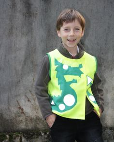 Nessie Rayon_Jaune, gilet fluo pour enfant Family Day, Cycling Gear, Graphic Sweatshirt, Sweatshirts, Sweaters, Fashion, Yellow, World, Children