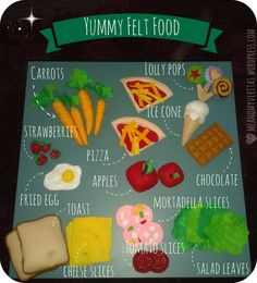 In the next couple of weeks, I will show you how easy and gratifying it is to make felt food. As you can see in the picture, felt food looks very realistic and, on top of that, is safe, colourful, ...