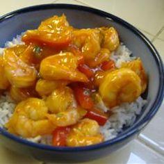 Sweet and Spicy Prawns Recipe Prawn Recipes, Fish Recipes, Seafood Recipes, Great Recipes, Cooking Recipes, Favorite Recipes, Yummy Recipes, Dinner Recipes, Gourmet