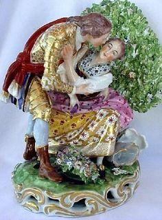 Antique Georgian Derby English Porcelain Figurine c1800 Romantic Lovers 1385 | eBay