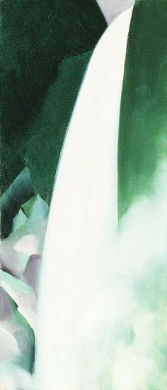 Georgia O'Keeffe, Green and White, 1957/1958, Oil on canvas, 17 x 7 inches, Gift of the Burnett Foundation and the Georgia O'Keeffe Foundation, ©️️Georgia O'Keeffe Museum