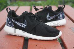 Dallas Cowboys Version 2 Nike Roshe Run Black Custom by NYCustoms