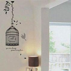 amazon BestOfferBuy - Sticker Mural Illustré par l'Image d'un Oiseau En Cage (Décalcomanie) JM8218 BestOfferBuy http://www.amazon.fr/dp/B009LHUENQ/ref=cm_sw_r_pi_dp_ZpF7ub1GGKAGQ