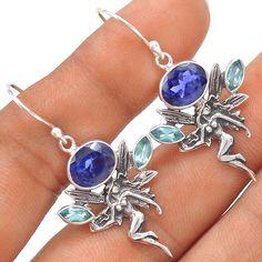 Fairy - Iolite 925 Sterling Silver Earrings Jewelry SE117965 | eBay