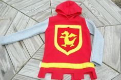 Fleece Knight Hooded Tunic by TheTreeHouseKid on Etsy, $75.00