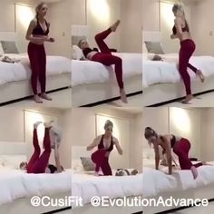 Tips Workout Before Bed For Women - Fitness and Exercises Fitness Workouts, Gym Workout Videos, Fitness Workout For Women, Easy Workouts, In Bed Workout, Yoga Fitness, Core Workout Women, Standing Abs Workout, Women Boxing Workout