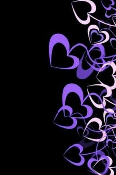 pink to purple heart shapes dangling on string - coming in from the side screen - iphone wallpaper background lock screen