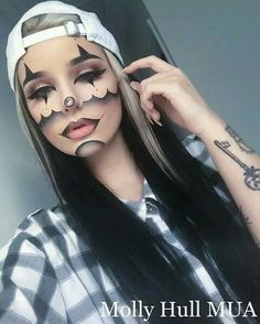Makeup ideas Halloween – Great Make Up Ideas Halloween Makeup Looks, Halloween Kostüm, Halloween Costumes, Makeup Fx, Hair Makeup, Makeup Eyeshadow, Helloween Make Up, Theatrical Makeup, Special Effects Makeup