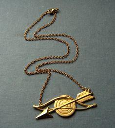 Brass Bow & Arrow Necklace