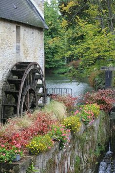 Bayeux ~ France waterwheel mill