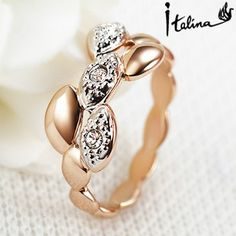 2017 New Sale Brand TracyKwok Genuine austrian crystal   gold Color Rings for Women  #RA15195Rose #Affiliate