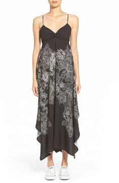 Hinge Paisley Print Maxi Dress poly/spandex grey phantom paisley szXS 41-47L 98.00