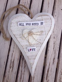 Decorated wooden heart x