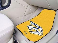 "NHL - Nashville Predators 2-pc Carpet Car Mat Set 17"""" X 27"""""
