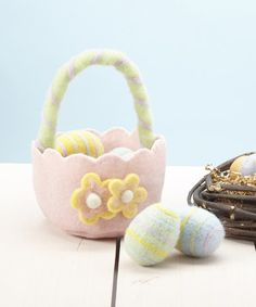 Another great find on #zulily! Wool Easter Basket & Egg Set #zulilyfinds