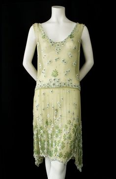 Beaded chiffon flapper dress, c.1925, from the Vintage Textile archives.