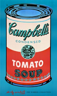 Campbell's Soup Can, 1965 (Pink and Red) Print by Andy Warhol at Art.com