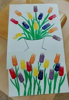 Kindergarten Crafts, Daycare Crafts, Preschool Crafts, Spring Craft Preschool, Flower Craft Preschool, Spring Crafts For Kids, Summer Crafts, Spring Flowers Art For Kids, Spring Crafts For Preschoolers