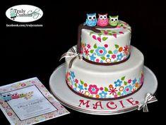 girl owl baby shower ideas   owl baby shower cakes ideas and picture   Baby Shower Ideas