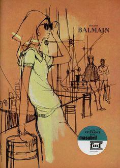 https://flic.kr/p/6HT44b   60s ad : Balmain knitwear   source : L'officiel magazine, n° 479-480, 1962