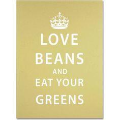 Trademark Fine Art Love Beans Canvas Art by Megan Romo, Size: 14 x 19, Multicolor