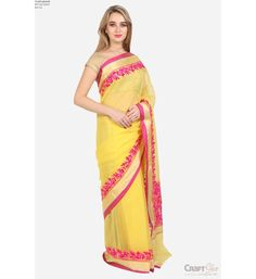 Patta Towel Heavy Ping Gold Border Saree With Blouse Kota Doria Ethnicwear Traditional Ideal For Women Wedding Party Casual Office Wear