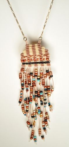 Fringed and Beaded Circuit Necklace от AMiRAjewelry на Etsy, $75.00