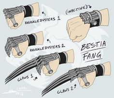 RWBY OC Weapon - Bestia Fang