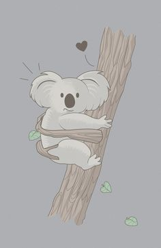 - love the soft colours - low contrast - clean solid colours Animals And Pets, Baby Animals, Cute Animals, Animal Drawings, Cute Drawings, Koala Baby, Koala Illustration, Image Deco, The Wombats