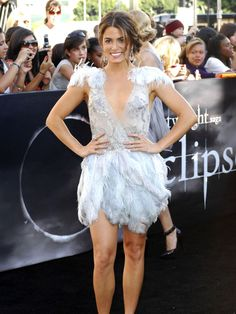 short white  feather dress