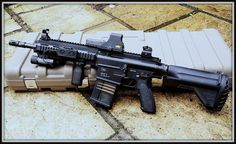 Heckler and Koch 417 assault rifle with Magpul extras - Very nice