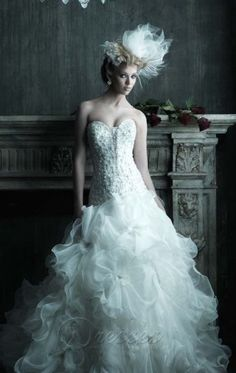 Discount White Mermaid Floor-length Organza Sweetheart Dress With Embroidery