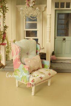 Dollhouse Miniature Custom Handmade Spring by cinderellamoments, $145.00