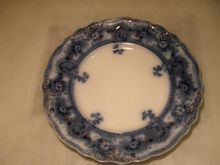 Antique Flow Blue Dinner Plate