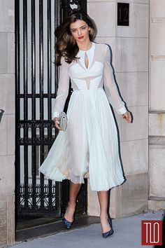 Miranda Kerr in J. Mendel in New York City | Tom & Lorenzo Fabulous & Opinionated
