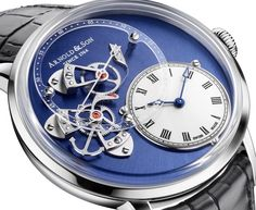 Arnold & Son DSTB white gold with blue PVD - Perpetuelle