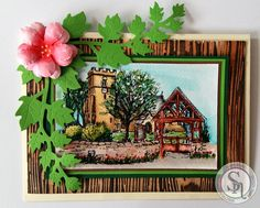 Clairebears x -   A Little Bit Sketchy Believe stamp - Spectrum Aqua pens:  Slate, Topaz, Desert, Boulder, Chestnut, Sepia, Sea Green, Moss, Evergreen, Amber, Purple, Begonia, Lime, Crimson, Teal - CC Watercolour Card - Textures Woodgrain embossing folder, Ivy die, Die'sire Pretty Petal die - #crafterscompanion #spectrumaqua Sheena Douglass, Crafters Companion Cards, Begonia, Watercolor Cards, Card Tags, Embossing Folder, Scenery, Aqua, Stamp